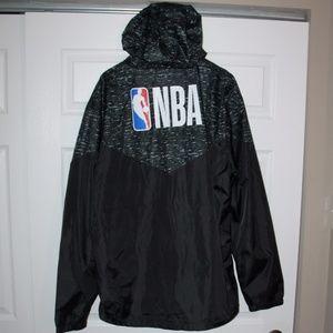 NBA Black White Zip Up Athletic Jacket SZ XXL NWT